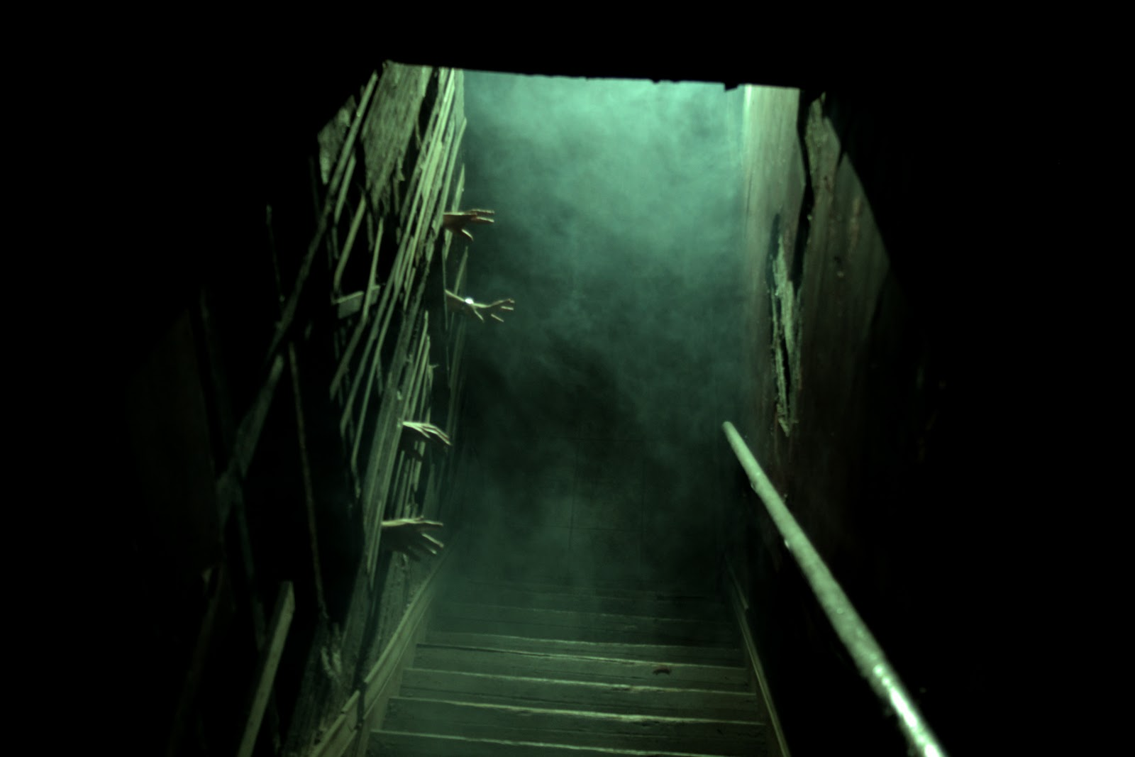 creepy basement stairs viewing gallery